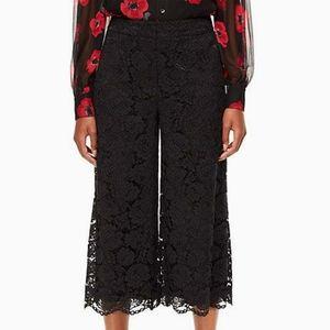 Kate spade Poppy Culotte sz 4 lace black crop pant